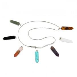 Collier avec 7 pierres de santé, chakras - cristal