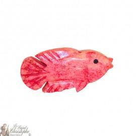Stone incense holder - pink fish