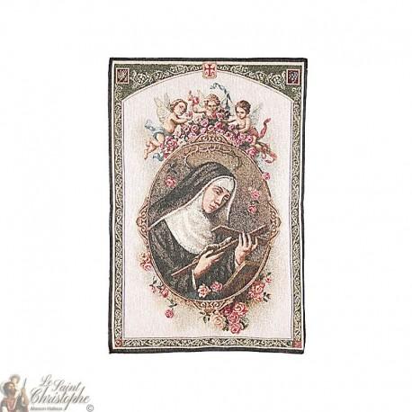 Wandteppich der Heiligen Rita - 50 x 70 cm