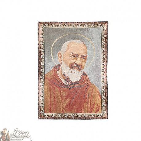 Wandteppich von Padre Pio - 50 x 70 cm