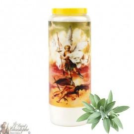 Bougie de neuvaine Saint Michel parfumée à la sauge - 1