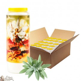 Sage novena candle with sage in Saint Michael - 1 - box 20 pieces