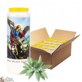 Bougie de neuvaine Saint Michel parfumée à la sauge - 2 - 20 pièces