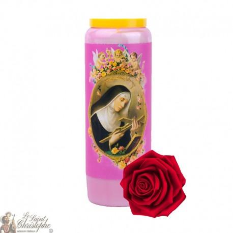 Bougies de Neuvaine Sainte Rita parfumée à la rose