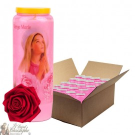 Novena Candles Virgin Mary rose scented - 1 - 20 pieces