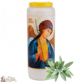 Bougie de neuvaine Saint Raphael parfumée à la sauge - 1