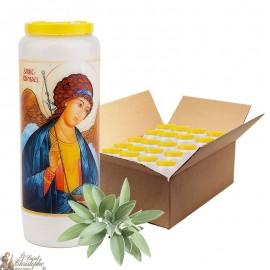 Bougie de neuvaine Saint Raphael parfumée à la sauge - 3 - 20 pièces