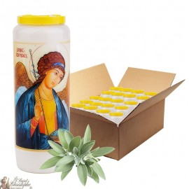 Novena Candle Saint Raphael scented with sage - 3 - 20 pieces