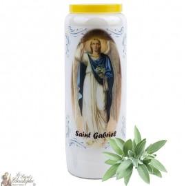 Bougie de neuvaine Saint Gabriel parfumée à la sauge - 2