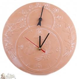 Reloj y termómetro de terracota