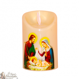Bougie Led flamme vacillante - sainte famille