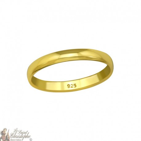 Bague plaqué or - Argent 925