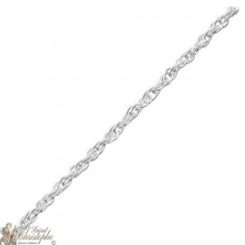 Adjustable chain - silver 925 - 38 cm for baby and small child