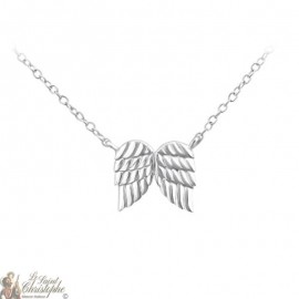 Collier Ange gardien pendentif ailes - Argent 925