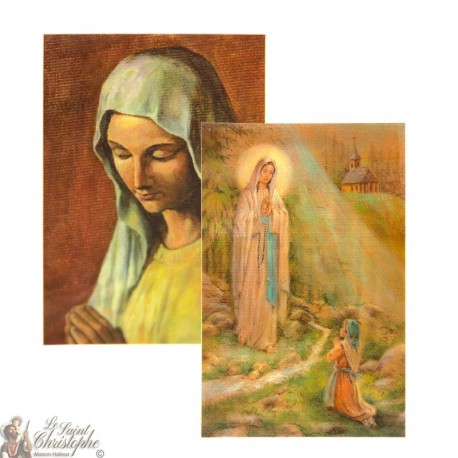 2D hologram postcard Virgin of the Poor - Appearance in Banneux