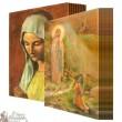 Lot carte postale hologramme 2D Vierge des Pauvres Apparition Banneux