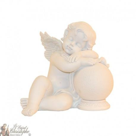 Statue Ange assoupi sur boule