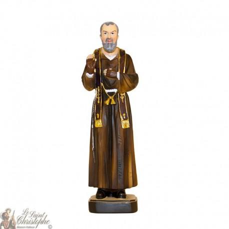 Statue en résine de Padre Pio - 20 cm