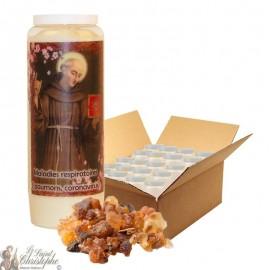 Novena Candle Saint Bernardine of Siena scented with myrrh - 20 pieces