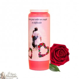 Novena Candle - Helping a couple in difficulty with rose scent