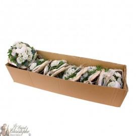 Carton de bouquets de fleurs - coeur sur tige