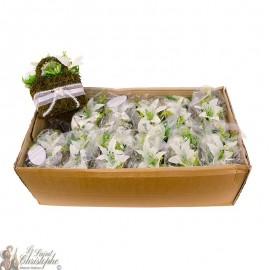 Carton de bouquets de fleurs - panier fleuri