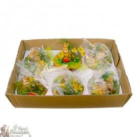 Carton de bouquets de fleurs - lapin