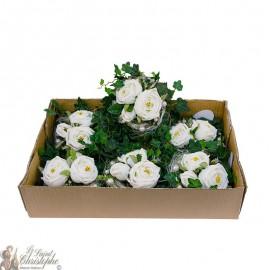 Carton de bouquets de fleurs - couronne blanche