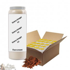 Sandalwood scented novena candle - customizable - box 20 pieces