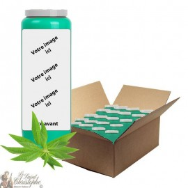 Verbena scented novena candle - customizable - box 20 pieces
