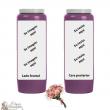 Bougie de neuvaine parfum Bouquet Fleuri- personnalisable - carton 20 pièces