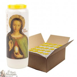 Novenkerze zu Maria Magdalena - Schachtel 20 Stück