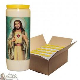 Velas de novena Sagrado Corazón de Jesús 2 - 20 piezas