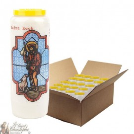 Novena candle in Saint Roch - 20 pieces