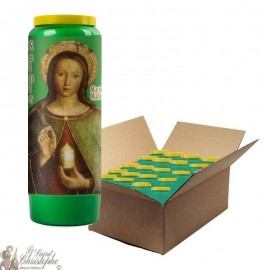 Candle of green novena to Saint Mary Magdalene - 20 pieces