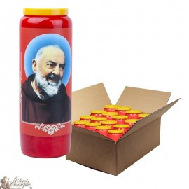 Padre Pio Red Novena Candles - 20 pieces