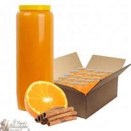 Novena candle scented with orange and cinnamon - box 20 pieces