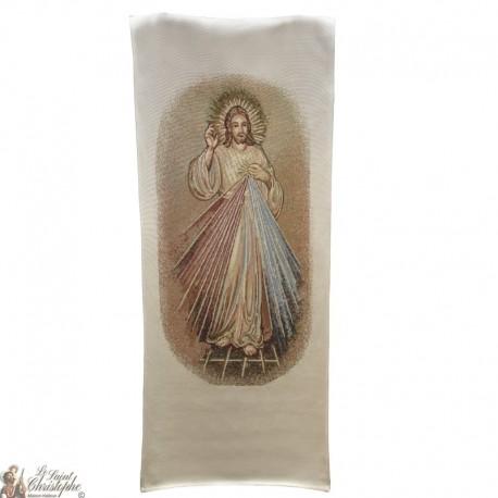 Wandteppich-Banner des Barmherzigen Christus - 58 x 124 cm
