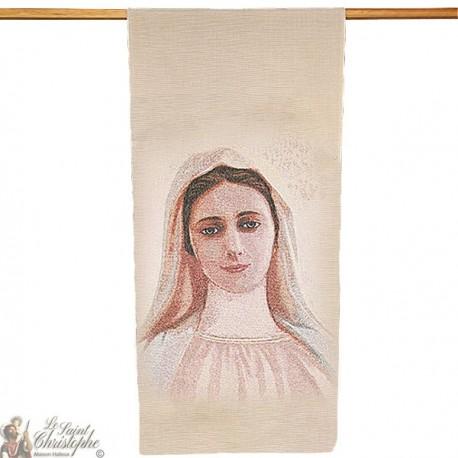Gobelin-Banner der Muttergottes von Medjugorje - 58 x 124 cm