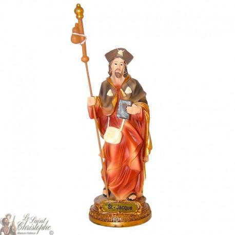 Statue en résine Saint Jacques 15 cm