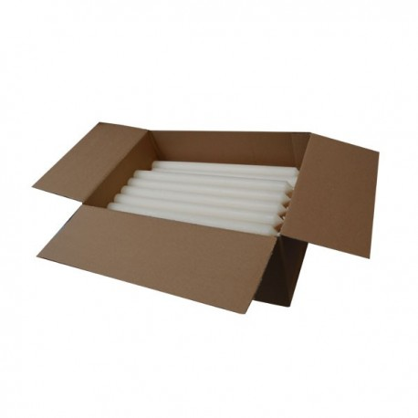 Long white candles - set of 240 pieces