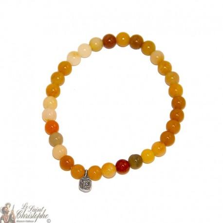 Bracelet en jade jaune naturel