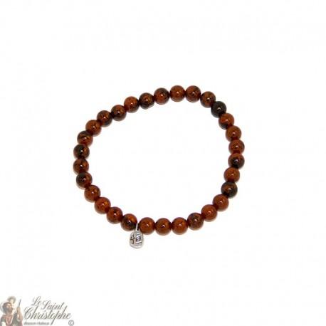 Bracelet en obsidienne acajou mahogany naturelle