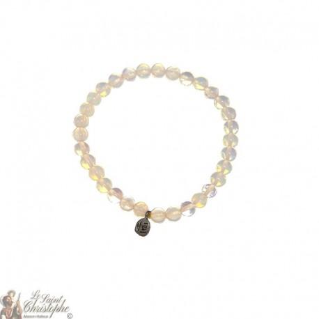 Bracelet en perles d'opaline