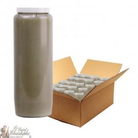 Bougie de neuvaine grise - carton 20 pièces