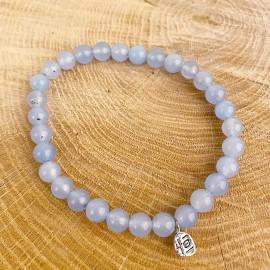 Bracelet en jade bleu naturel
