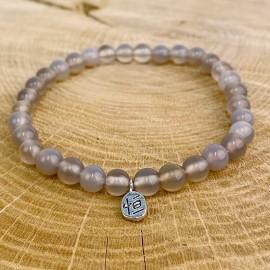 Bracelet en agate grise naturelle
