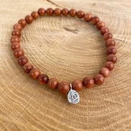 Bracelet en perles de gold stone