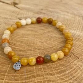 Natural yellow jade bracelet