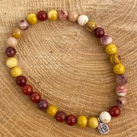 Natural mochaite jasper bracelet